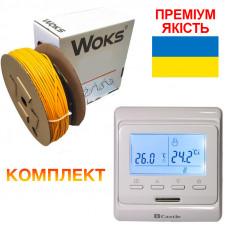 Теплый пол Woks-18 кабель под плитку 1490W 8.4 м2