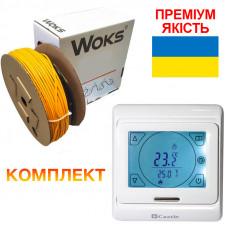 Теплый пол Woks-18 кабель под плитку 1970W 11.0 м2